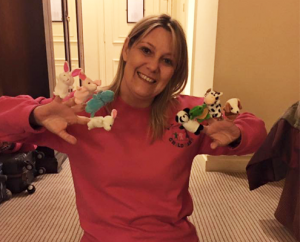 Lisa with finger puppets