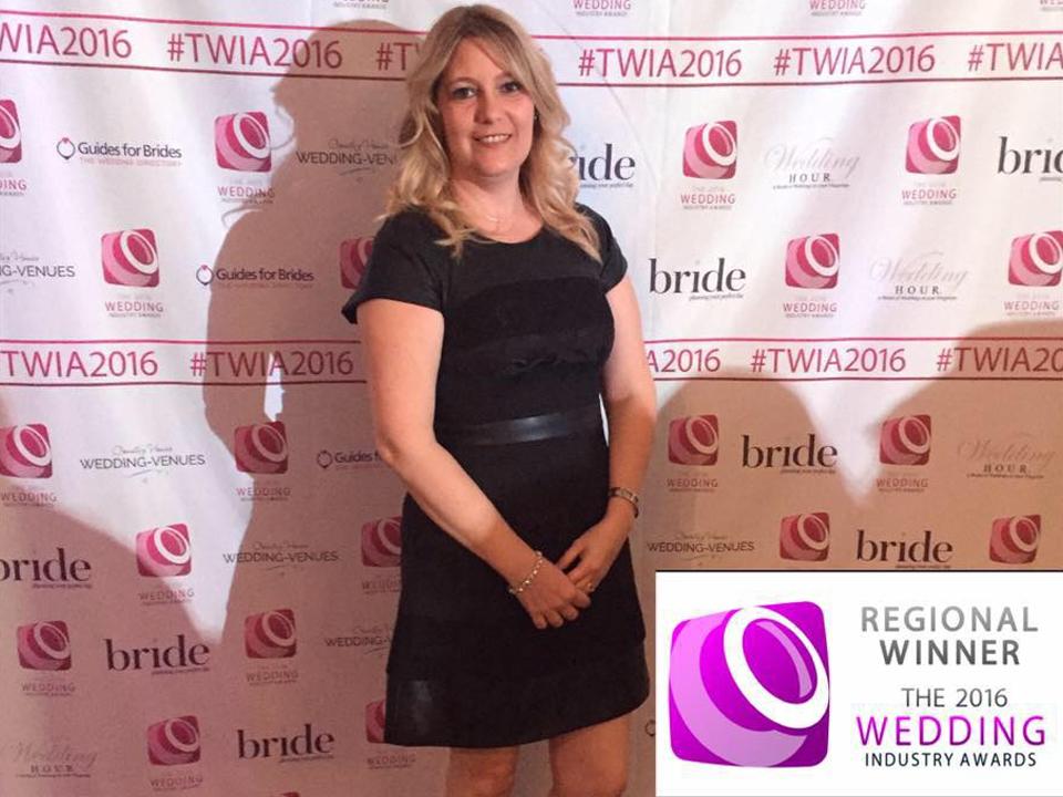 Lisa at the wedding industry awards